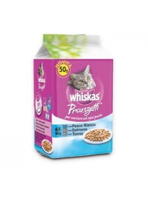 WHISKAS MULTIPACK  PESCE 6X50