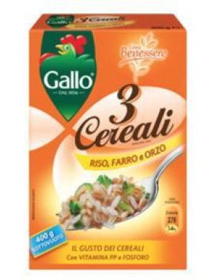 RISO FARRO ORZO GALLO 3 CEREAL