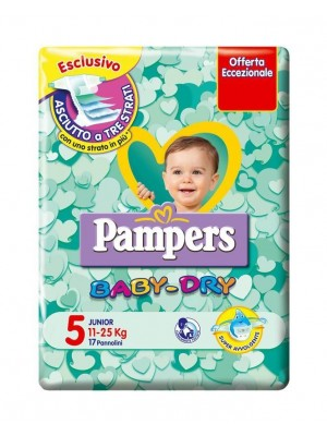 PAMPERS BABY DRY 5 11-25 KG